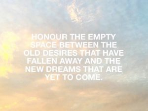 Honour The Empty Space Between The Old & The New
